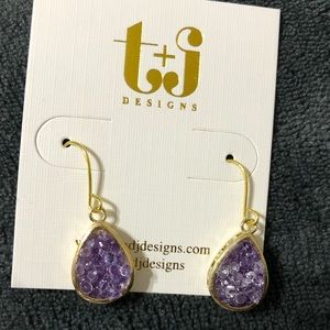 Amethyst Drusy earrings.